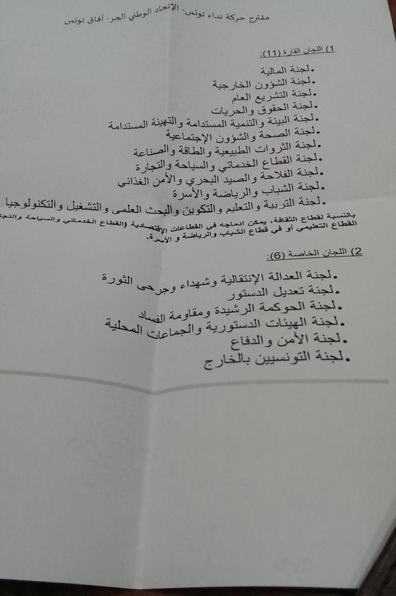 00-TunisieARP-Nidaa Tounes et ses alliés annoncent la couleu-en voulant déjà amender des articles de la Constitution