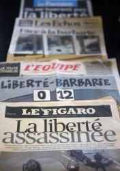 - Charlie Hebdo-ciblé par un attentat anti-blasphème et anti liberté de pensée -12 morts-4 blessés et 3 suspects repérés-02