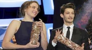César 2015- Adèle Haenel-Merlleure actrice - Pierre Niney-Meilleur acteur-