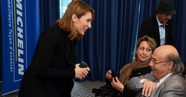 - Faites le plein d'air-JOMAA SA et Michelin - Sana Mouelhi aux petits soins des représentants de la Presse-3