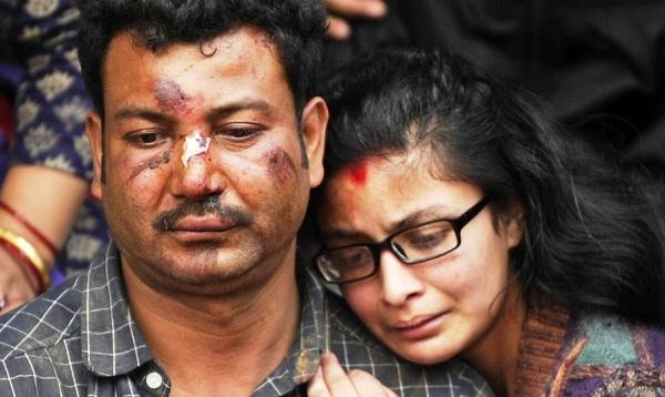 Népal- à la pauvreté-s'ajoute une catastrophe humanitaire due à un terrible séisme-3200 morts- 6500 blessés