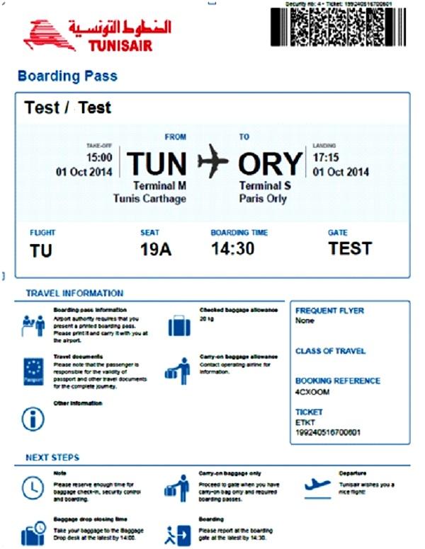 -  Tunisair lance le web et mobile check-in -2