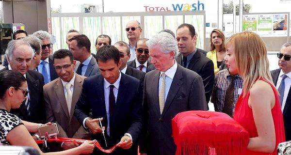 - François de la Gouyette-Mathieu Langeron-Total Tunisie inaugure sa nouvelle station-Les Jardins du Lac