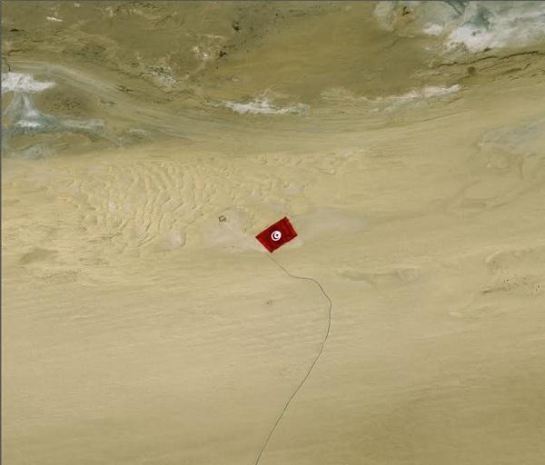 Le déploiement du plus grand drapeau du monde en Tunisie-observé par le satellite Pléiades-600