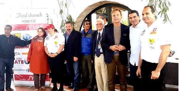 - Rallye de Tunisie 2015- le Top départ donné par Hend Chaouch-sous le slogan -Tunisie j'y vais - c