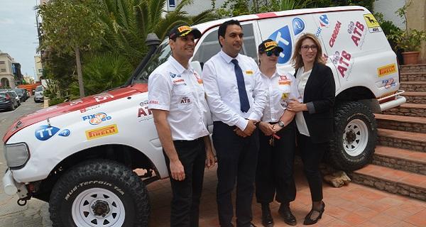 - Rallye de Tunisie 2015- le Top départ donné par Hend Chaouch-sous le slogan -Tunisie j'y vais - g