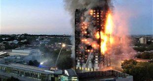 Gigantesque incendie à Londres (dans une tour d'habitation), au moins 30 blessés
