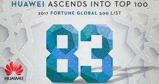 HUAWEI classé 83e dans le Top 100 de la dernière liste Fortune 500