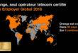 Orange, seul opérateur télécom au monde certifié «Top Employer Global 2018»