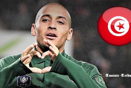 Wahbi Khazri, l'international tunisien, élu meilleur joueur de Ligue 1 française en novembre, a inscrit avec Saint-Etienne un doublé face à Marseille le 16 janvier