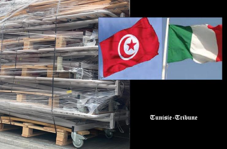Don d'équipements médicaux livrés par des Tunisiens qui résident en Italie