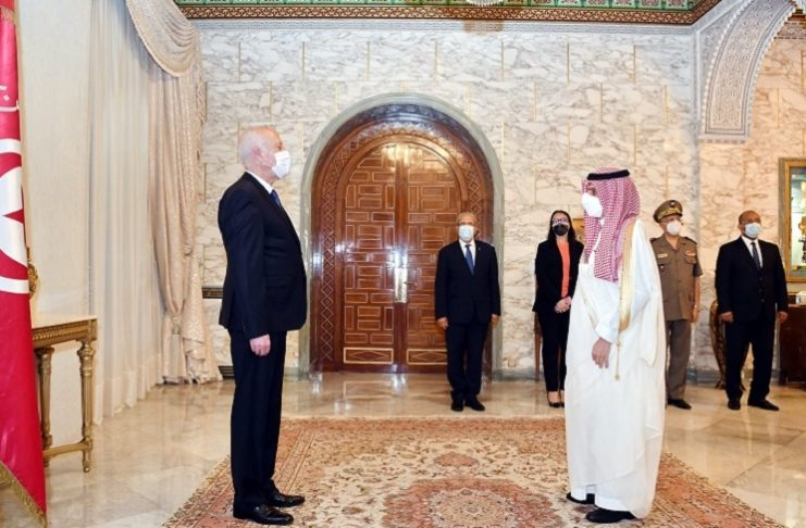 Kaïs Saïed reçoit le ministre saoudien des Affaires étrangères