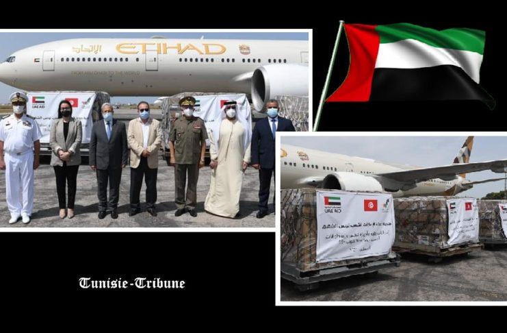 La Tunisie réceptionne des aides médicales fournies par les Emirats arabes unis