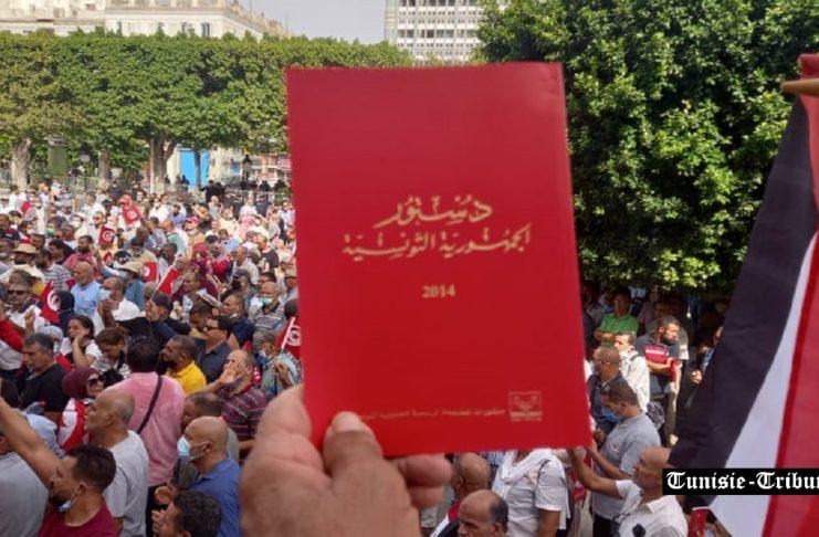 Pour contrer celle d'hier, une forte manifestation s'est organisée pour dénoncer et rejeter les décisions de Kais Saïed