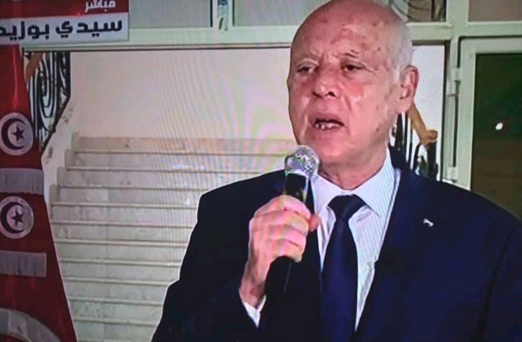 """Kais Saïed : """"Les mesures exceptionnelles se poursuivent... alors que des dispositions transitionnelles ont été mises en place"""