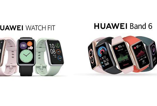 HUAWEI s'affirme à nouveau sur le marché des wearables, avec la HUAWEI WATCH FIT et le HUAWEI Band 6