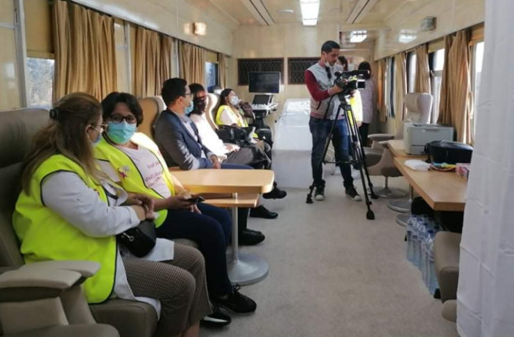 Un train transformé en caravane sanitaire mobile pour dépistage du Covid-19 et du cancer du sein