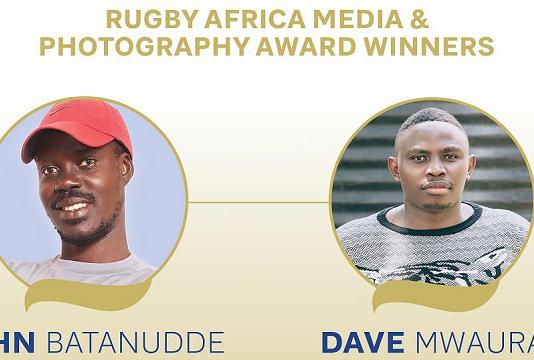 Les lauréats des premiers prix Médias et Photographie de Rugby Afrique sont dévoilés